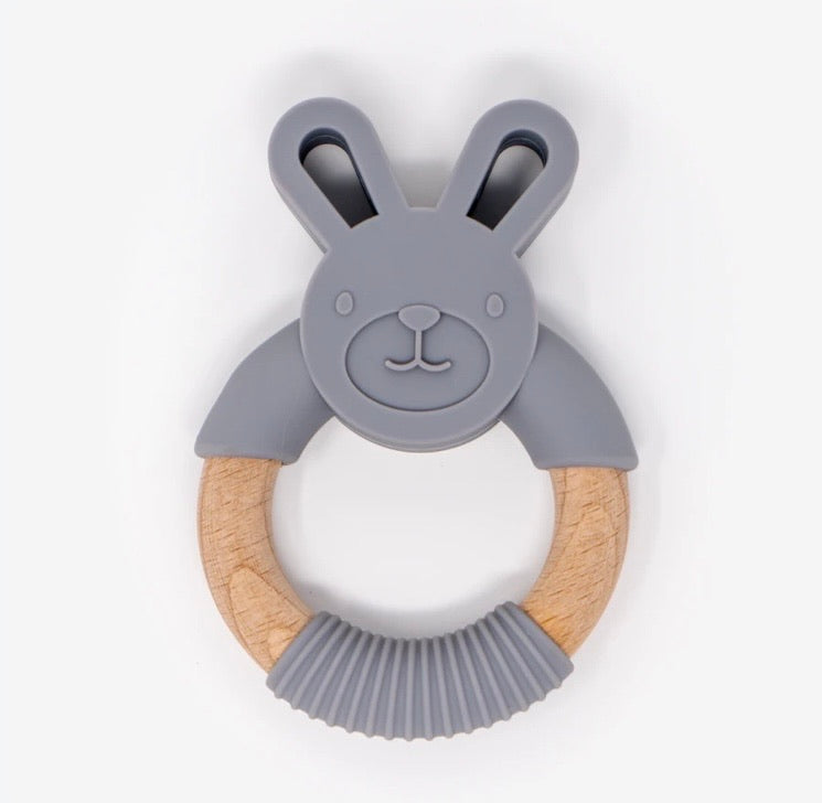 Beech Wood Rabbit Teething Toy