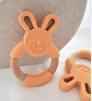 Open image in slideshow, Beech Wood Rabbit Teething Toy