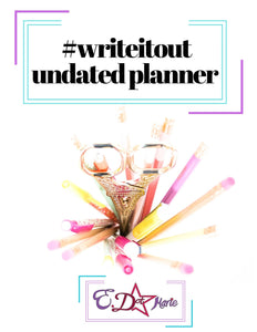 #WriteItOut Planner (Download)