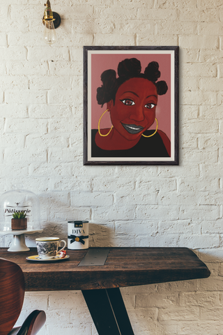 UNFRAMED Black Girl Knotted Prints 16x20