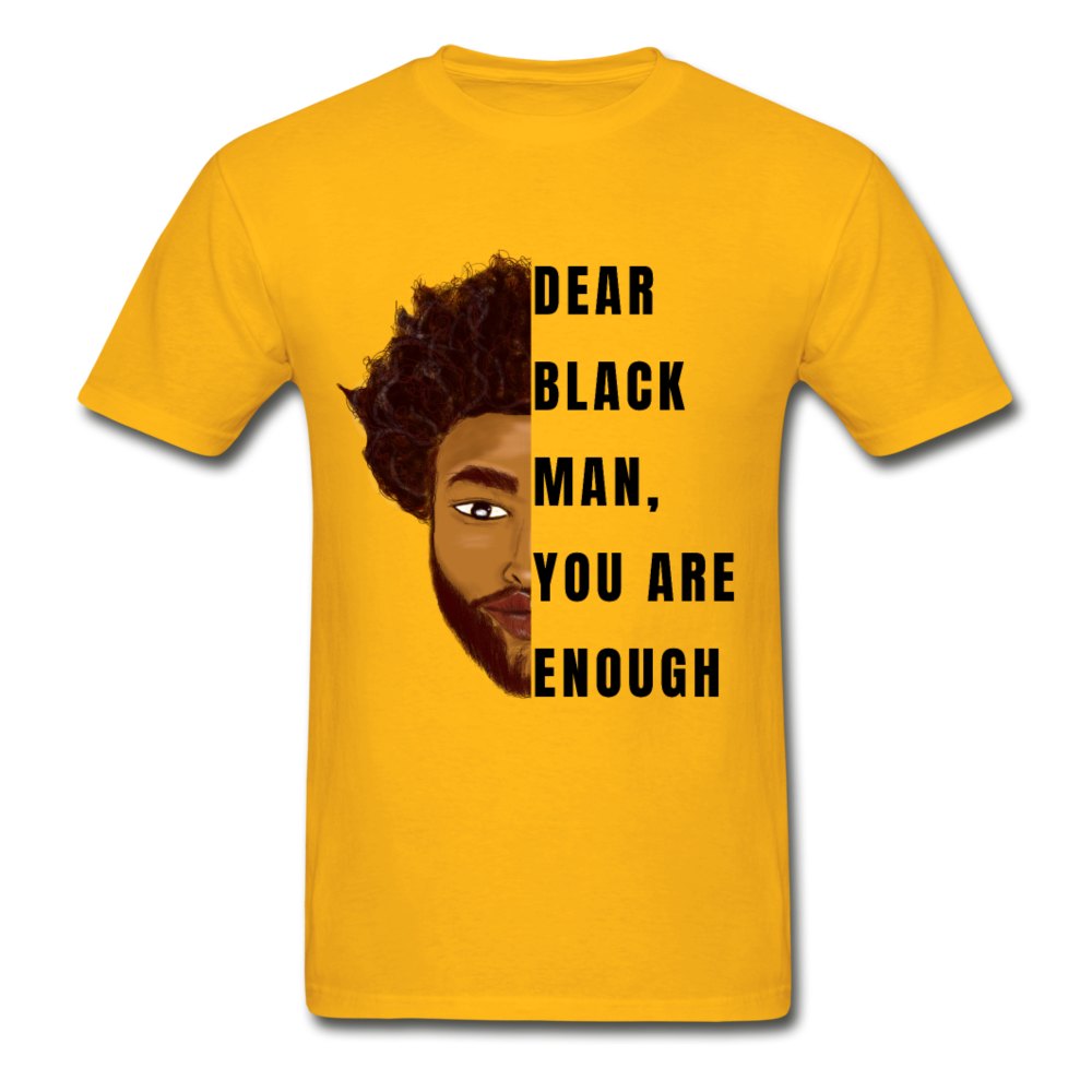 Black Man You Are Enough - gold