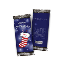 Load image into Gallery viewer, Personalised Christmas Chocolate Bar - Stocking