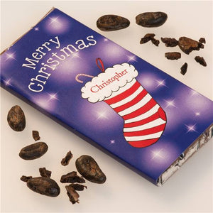 Personalised Christmas Chocolate Bar - Stocking