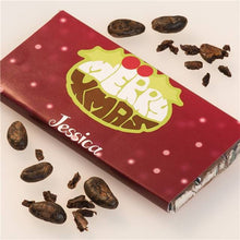 Load image into Gallery viewer, Personalised Christmas Chocolate Bar - Xmas Pud