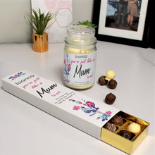 Load image into Gallery viewer, Like A Mum To Me Candle Jar & Truffles
