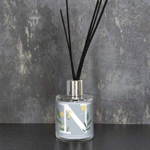 Floral Initial Reed Diffuser