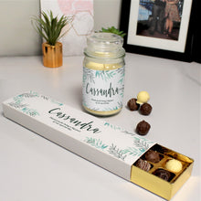 Load image into Gallery viewer, Floral Candle Jar & Truffles Set
