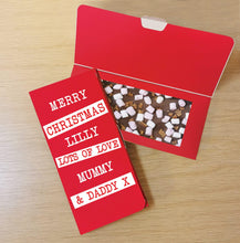 Load image into Gallery viewer, Merry Christmas Block out Milk Chocolate Card