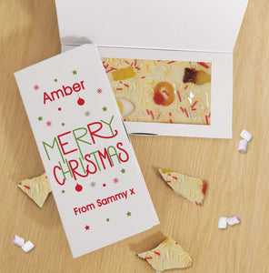 Merry Christmas White Chocolate Card
