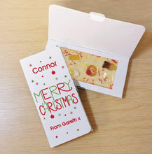 Load image into Gallery viewer, Merry Christmas White Chocolate Card
