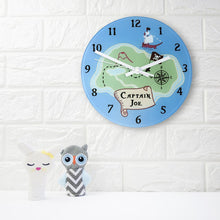 Load image into Gallery viewer, Arrrr! Personalised Pirate Wall Clock - One of a Kind Gifts UK