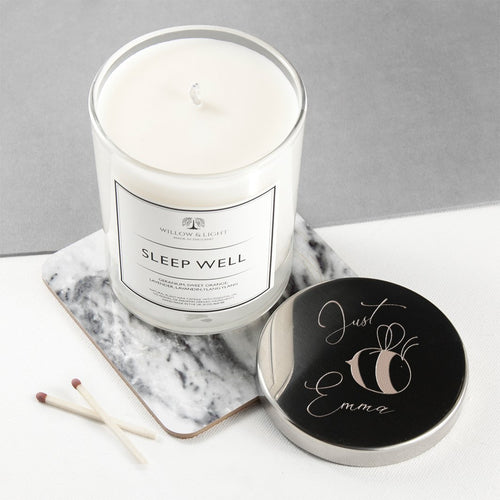 Bee You Candle With Silver Lid - One of a Kind Gifts UK