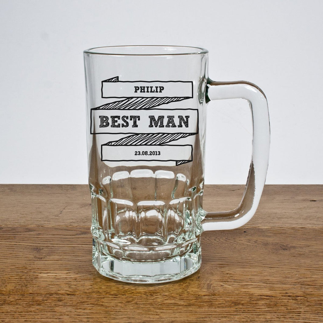 Comic Best Man Tankard - One of a Kind Gifts UK