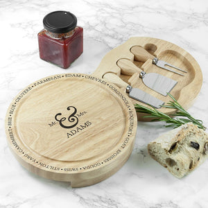 Connoisseur Mr and Mrs Cheese Board Set - One of a Kind Gifts UK
