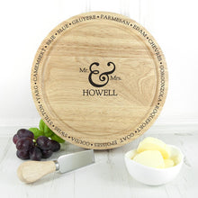 Load image into Gallery viewer, Connoisseur Mr and Mrs Cheese Board Set - One of a Kind Gifts UK