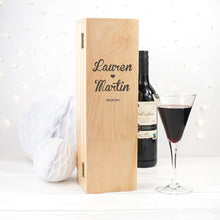 Load image into Gallery viewer, Couple's Romantic Wine Box