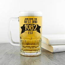 Load image into Gallery viewer, Dad Established In Beer Glass Tankard - One of a Kind Gifts UK