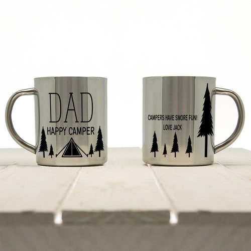 Dad's Happy Camper Outdoor Mug - One of a Kind Gifts UK