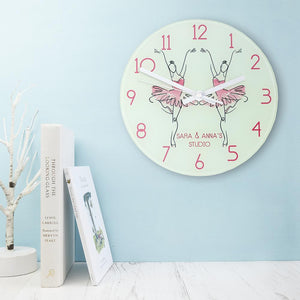 Graceful Ballet Dancer Personalised Wall Clock - One of a Kind Gifts UK