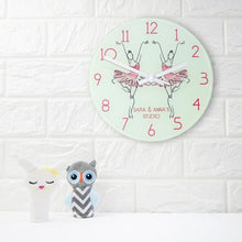 Load image into Gallery viewer, Graceful Ballet Dancer Personalised Wall Clock - One of a Kind Gifts UK