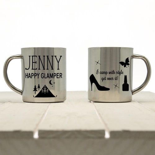 Happy Glamper Outdoor Mug - One of a Kind Gifts UK