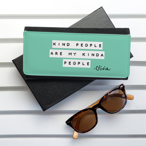 Kind People (Green) Black Wallet - One of a Kind Gifts UK