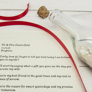 Luxury Message in a Bottle - One of a Kind Gifts UK