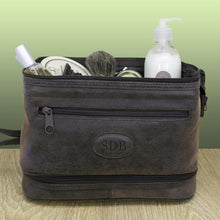 Load image into Gallery viewer, Men's Personalised Expandable Suede Textured Wash Bag - One of a Kind Gifts UK