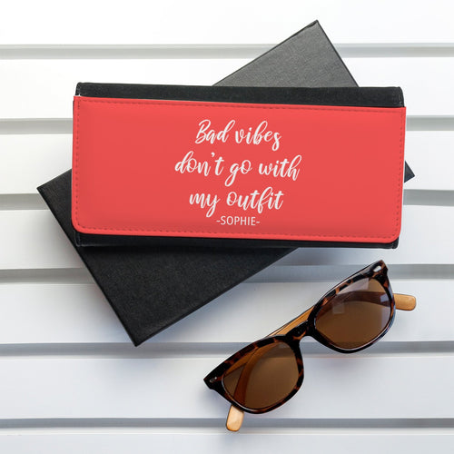 No Bad Vibes Black Wallet - One of a Kind Gifts UK