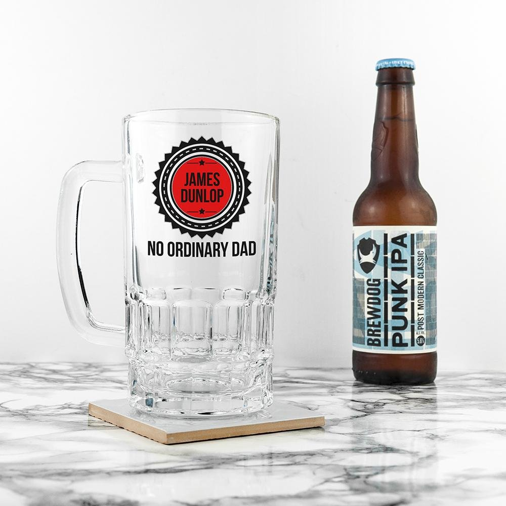 No Ordinary Dad Beer Glass Tankard - One of a Kind Gifts UK