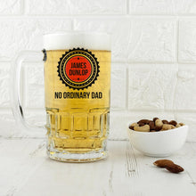 Load image into Gallery viewer, No Ordinary Dad Beer Glass Tankard - One of a Kind Gifts UK