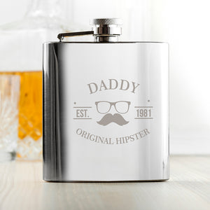 Original Hipster's Silver Hip Flask