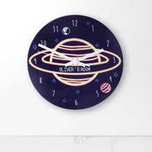Load image into Gallery viewer, Out Of This World Personalised Space Wall Clock - One of a Kind Gifts UK