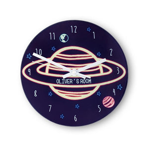 Out Of This World Personalised Space Wall Clock - One of a Kind Gifts UK