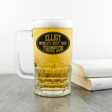 Load image into Gallery viewer, Oval Design Beer Glass Tankard - One of a Kind Gifts UK
