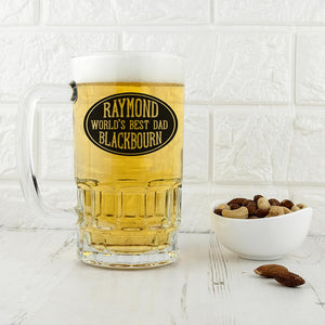 Oval Design Beer Glass Tankard - One of a Kind Gifts UK