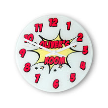 Load image into Gallery viewer, Pow! Personalised Comic Wall Clock