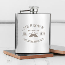 Load image into Gallery viewer, Original Hipster's Silver Hip Flask