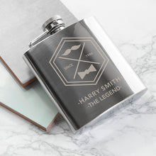Load image into Gallery viewer, Legend Dad's Silver Hip Flask