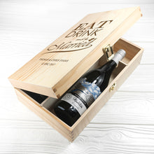 Load image into Gallery viewer, Personalised Eat Drink and Be Married Wine Box