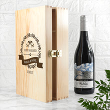 Load image into Gallery viewer, Personalised Just Married Wine Box