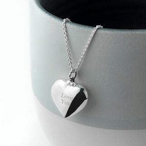 Personalised Cherish Heart Necklace