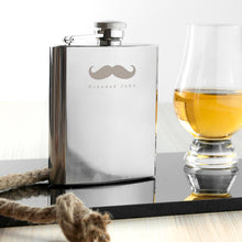 Load image into Gallery viewer, Moustache 6oz Hip Flask