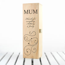 Load image into Gallery viewer, Mother's Day Wine Box With Swirls