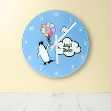 Load image into Gallery viewer, Percy Penguin Personalised Wall Clock - One of a Kind Gifts UK