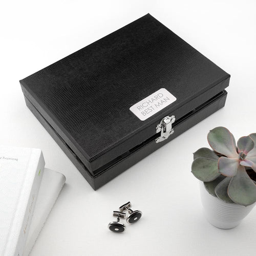 Personalised 12 Compartment Cufflink Box - One of a Kind Gifts UK