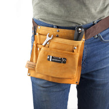 Load image into Gallery viewer, Personalised 6-pocket Leather Tool Belt - One of a Kind Gifts UK