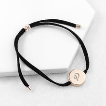 Load image into Gallery viewer, Personalised Always with You Initial Black Bracelet - One of a Kind Gifts UK