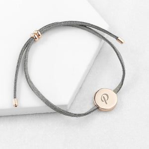 Personalised Always with You Initial Grey Bracelet - One of a Kind Gifts UK