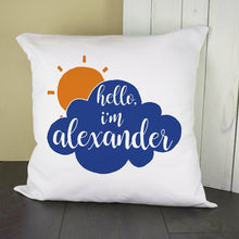 Load image into Gallery viewer, Personalised Baby On Cloud Cushion Cover - One of a Kind Gifts UK
